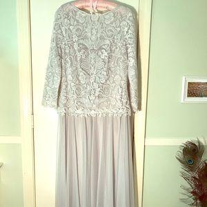 Tadashi Shoji  lace & tulle gown